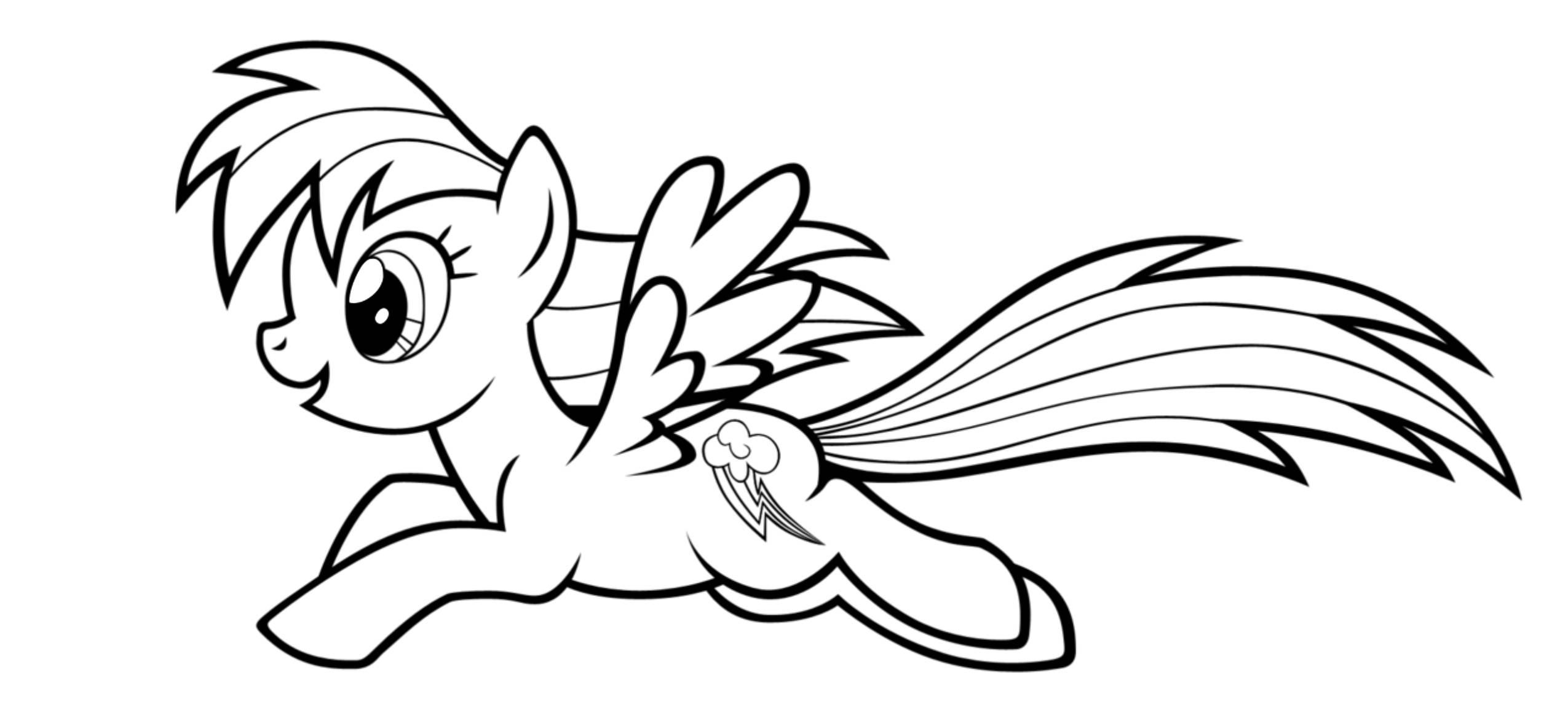 Мой маленький пони раскраска