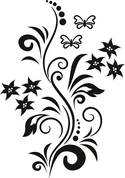 картинки для лд для срисовки чёрно белые