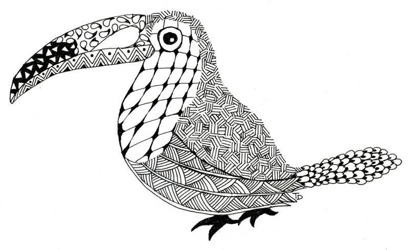 02. Рисование в стиле зенарт