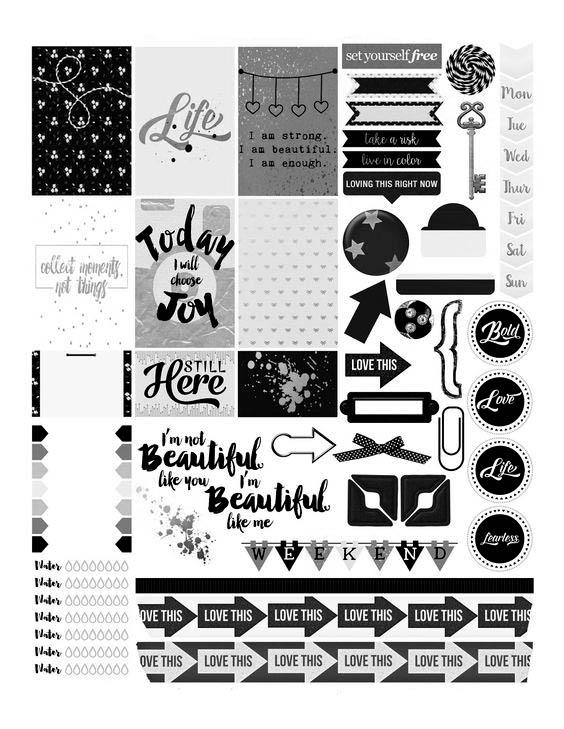 Картинки для распечатки красивые для лд черно белые 6