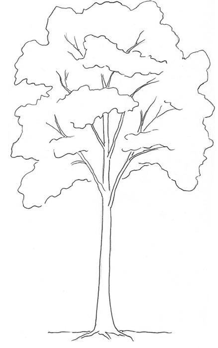 04. Как нарисовать дерево – простой вариант для начинающих
