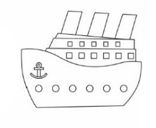 05. Как нарисовать корабль детям