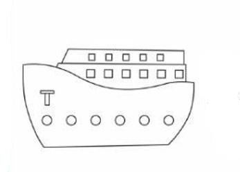 04. Как нарисовать корабль детям