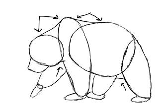 06. Как нарисовать медведя поэтапно
