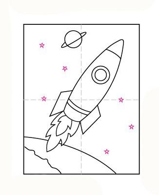 09. Как нарисовать ракету детям за несколько минут?