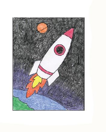 01. Как нарисовать ракету детям за несколько минут?