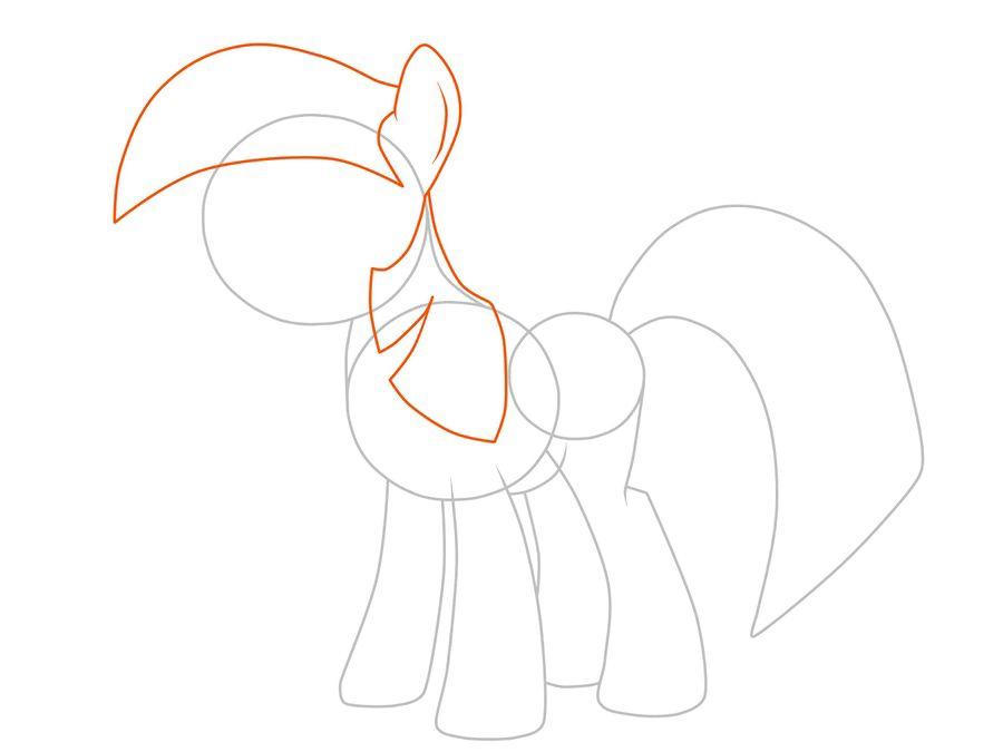 05. Как рисовать пони Искорку из мультфильма про дружбу