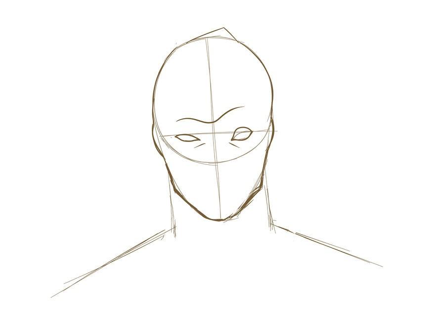 07. Как нарисовать дэдпула поэтапно
