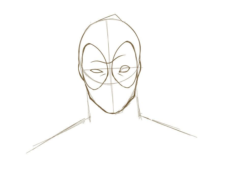 08. Как нарисовать дэдпула поэтапно