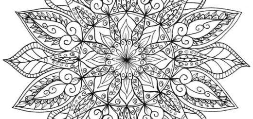 01. Мандала для раскрашивания и обозначение каждой мандалы