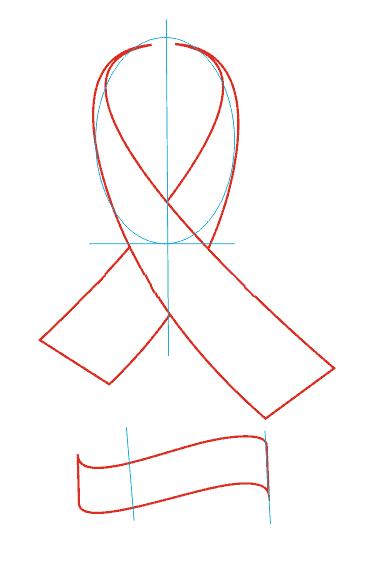 Как нарисовать георгиевскую ленту на