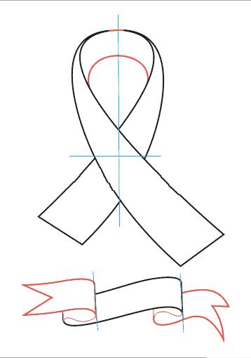 Как нарисовать георгиевскую ленточку поэтапно