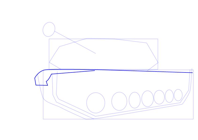 08. Как нарисовать танк поэтапно