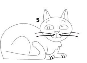 06. Как нарисовать кошку
