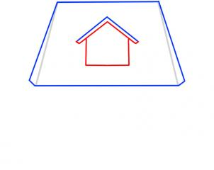 04. Как нарисовать дом - несложный вариант для детей