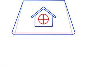 05. Как нарисовать дом - несложный вариант для детей