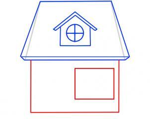 06. Как нарисовать дом - несложный вариант для детей