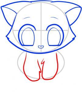 06. Как нарисовать котенка в мультяшном стиле