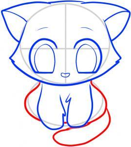 07. Как нарисовать котенка в мультяшном стиле