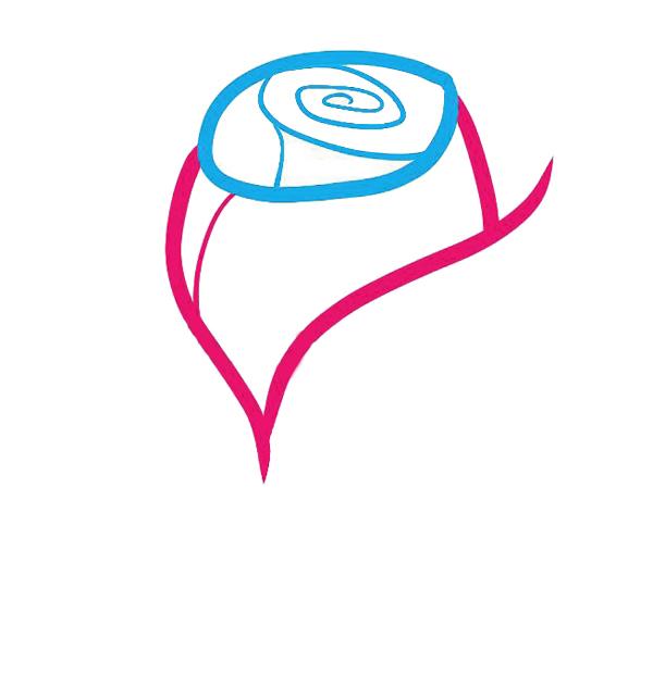 04. Как рисовать розу - семь простых шагов