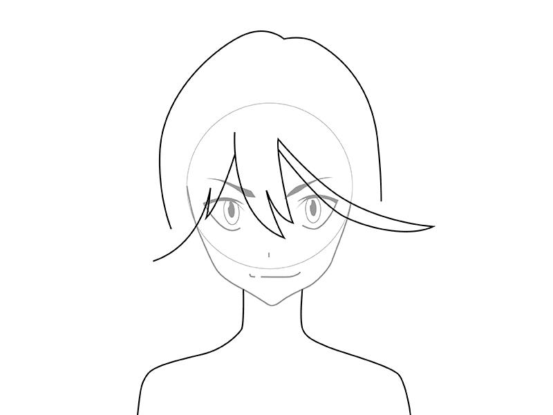 04. Как рисовать аниме – рисуем Рюко Матои