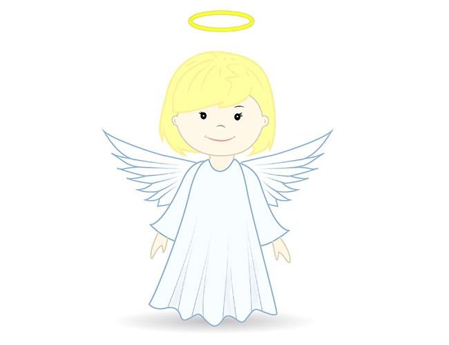 01. Как нарисовать ангела поэтапно
