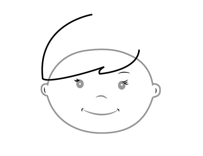 03. Как нарисовать ангела поэтапно