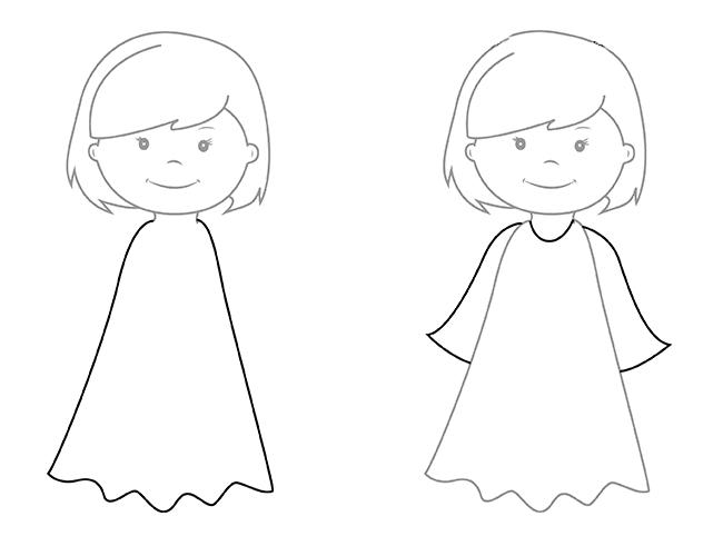 05. Как нарисовать ангела поэтапно