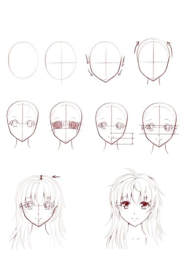 02. Как нарисовать аниме быстро и легко