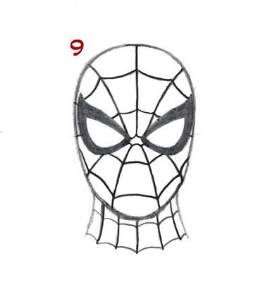10. Как нарисовать человека паука начинающим