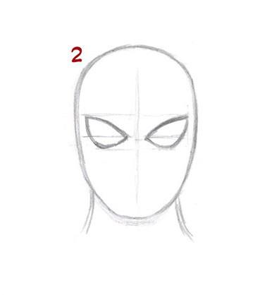 02. Как нарисовать человека паука начинающим