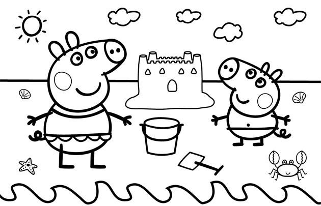 Свинка пеппа раскраска – герои любимого мультфильма снова ...