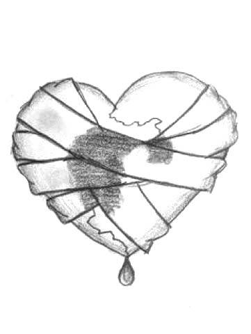 Картинки для срисовки карандашом для начинающих про любовь 9