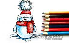 пингвин карандашом