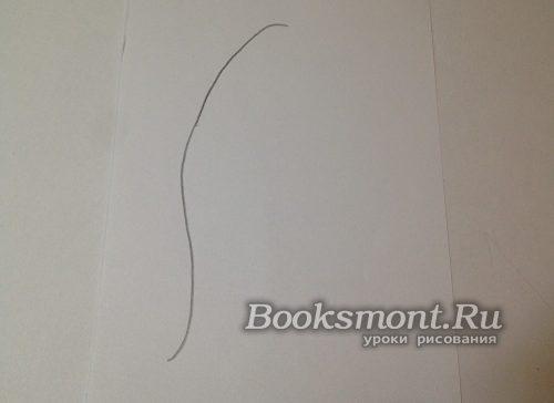 рисуем вертикально кривую линию