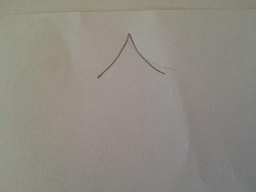 рисуем на бумаге треугольник