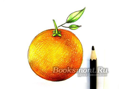 рисуем тень черным карандашом