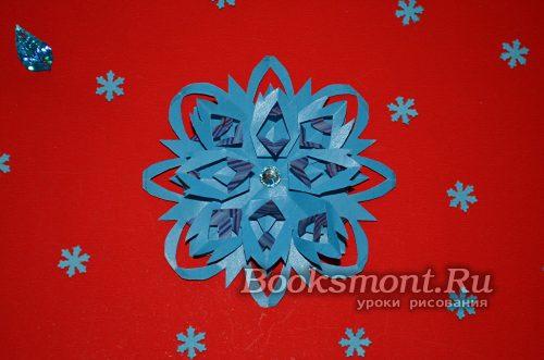 Необыкновенная бумажная снежинка