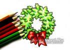 Миниатюра к статье Поэтапный рисунок карандашом «Новогодний венок»