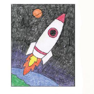 Миниатюра к статье Как нарисовать ракету детям за несколько минут?