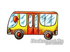 Миниатюра к статье Как поэтапно нарисовать автобус карандашами