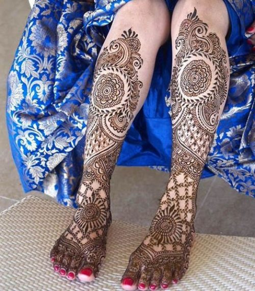 Миниатюра к статье Мехенди на ноге — фото рисунков хной