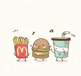 прикольные рисунки еды для личного дневника помощь вам придёт