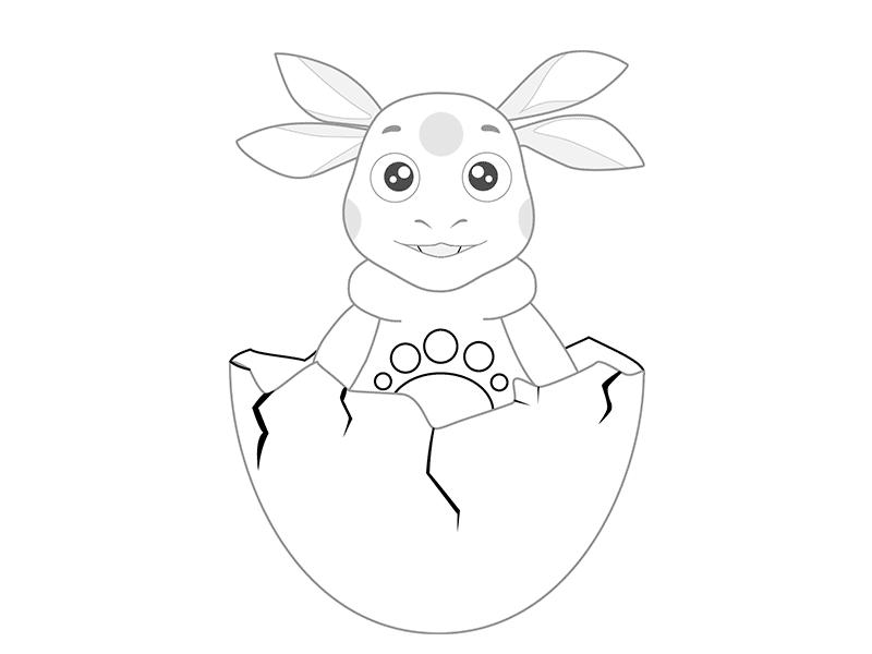 07. Как нарисовать лунтика детям