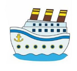 01. Как нарисовать корабль детям