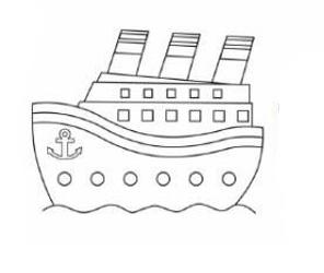 06. Как нарисовать корабль детям