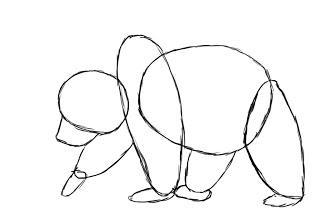 05. Как нарисовать медведя поэтапно