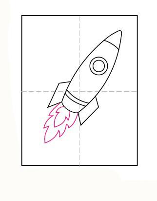 06. Как нарисовать ракету детям за несколько минут?