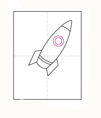 05. Как нарисовать ракету детям за несколько минут?