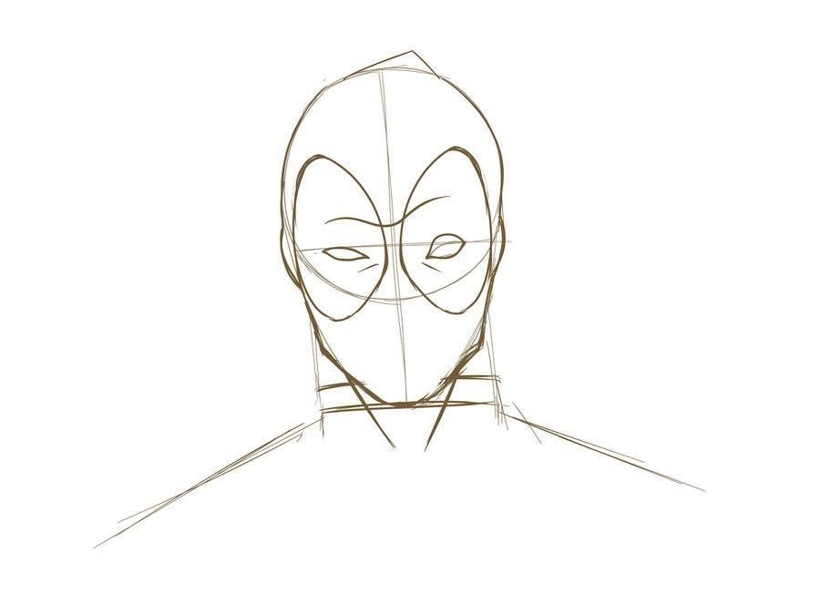 10. Как нарисовать дэдпула поэтапно